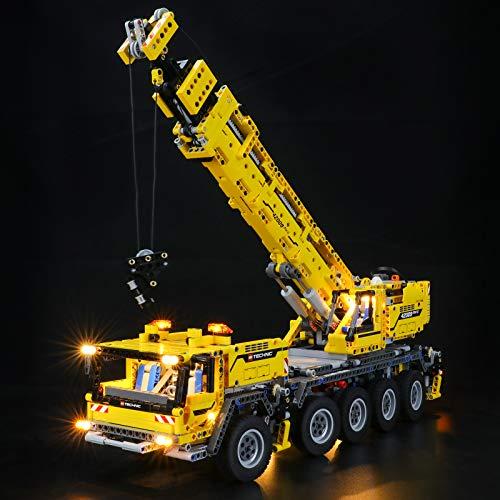 BRIKSMAX Kit di Illuminazione a LED perTechnicGru Mobile MK II - Compatibile con Lego 42009 Modello di Blocchi predefiniti- Non includere Il Set Lego