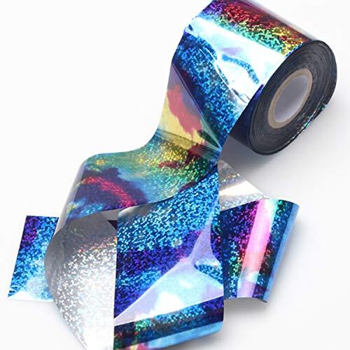 Yunnyp Gradiënt Nagel Ster Sticker Sterrenhemel Nagel Folie Blauw Holografische Papieren Stickers Decor Nail Art Sticker Decoratie Accessoires Cattie Meisje