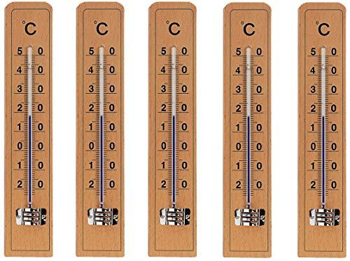 5 pc KOCH Thermomètres en bois \