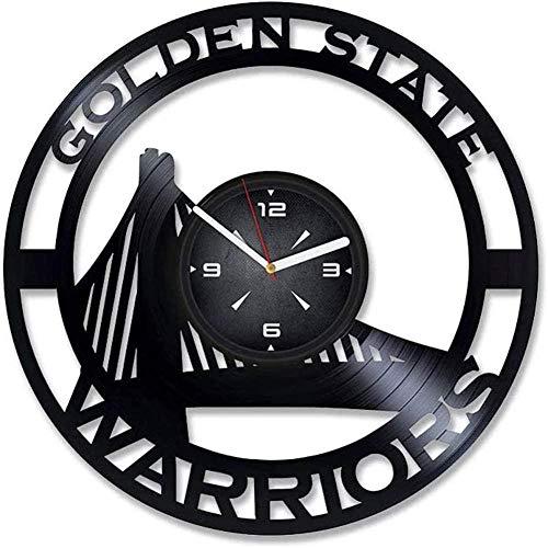 ZZLLL Reloj de Pared de Vinilo con Tema de campeón Personalizado diseño Moderno decoración Creativa del hogar para niños y Hombres Navidad y año Nuevo