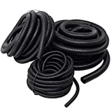 20 Ft Split Loom 1/4' 1/2' 3/4' Black Wire Harness Wrap Cover Sleeve Conduit