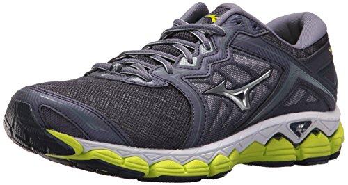 Mizuno Men's Wave Sky Running Shoes, Gray Stone-Silver, 8 D US