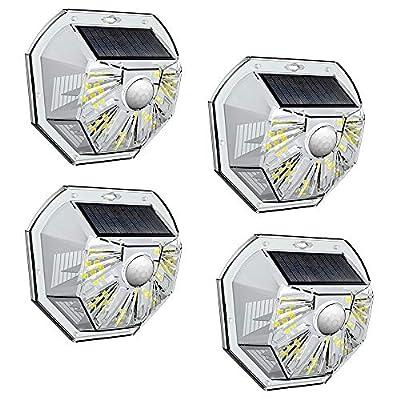 VOSONX Solar Lights Outdoor - Wireless Light Sensor & Motion Sensor Light, 40 LEDs Solar Powered LED Wall Light, IP67 Waterproof Home Decor Security Lights for Outside, Backyard, Front Door (4 Pack)