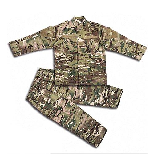 H Welt EU Tactical Airsoft Kinder Kleidung Kinder BDU Jagd Military Camouflage Kampfuniform Anzug Jacke Shirt & Hosen (MC, 160)