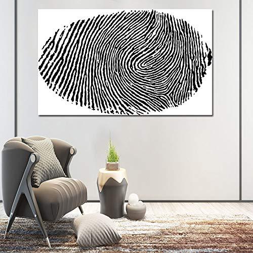 PLjVU Cuadro de Arte de Pared Lienzo Pintura al óleo Sala de Estar Sala de Estar Abstracto Blanco y Negro Imprimir Marco de decoración del hogar-Sin marco40x60cm