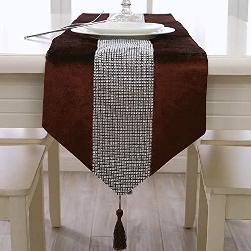 Branfan Tafellopers salontafel tafeldecoratie lange stroken Europese mode sfeer moderne minimalistische tafelmat diamant tafelkleed 33 * 250cm