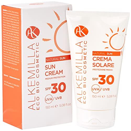 Crema Solare Media Protezione SPF 30 150ml - Alkemilla
