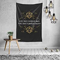Dice Giveth Tapestry Wall Hanging Art Tapestries for Home Living Room Dorm Decor 60X40 Inch