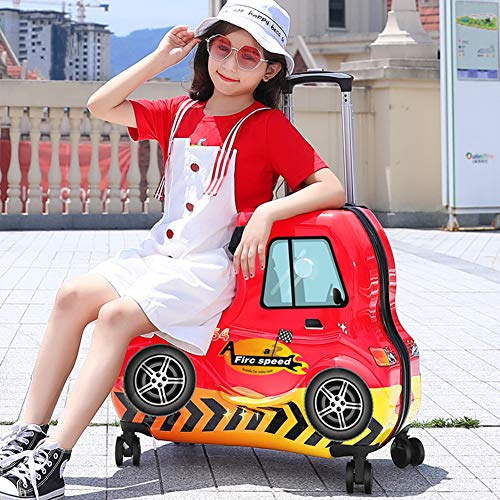 AAGYJ Children's LuggageChildren's Suitcases, Influencer Fashion Ride-On Travel Suitcase, Kids Luggage Set, Student Trolley Boarding Suitcase, Universal Wheel Toy Box