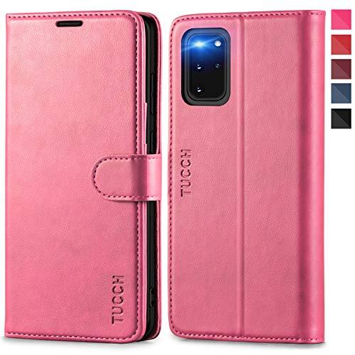 TUCCH Galaxy S20+ Plus Hülle, Stoßfeste Handyhülle [RFID Schützt] [Verdicktes TPU] [Kartenfach] [Standfunktion], Magnet Schutzhülle Lifetime Garantie, Cover Kompatibel für Galaxy S20 Plus 6,7 Rosa