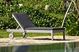 Backyard Furniture Lodge Solid Hardwood Grey Sunlounger with Cushions and Weatherproof Furniture Cover