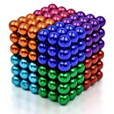 5MM Set of 216 Magnets Building Blocks Toys for Intelligence Learning Development and Creative Educational Toy, Office Desk Toy & Stress Relief (Multicolour A)
