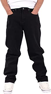 Georgio Peviani Men's Comfort Straight Fit Denim Jeans, Black