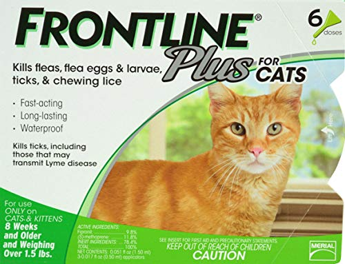 F.C.E. 6 Month Frontline Plus for Cats