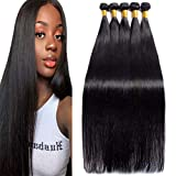 Lemoda Brazilian 10A Grade Straight Hair One Bundle 32 Inch Long 1B Black Color Can be Dyed And Styled Virgin Straight Human Hair Weave Extensions For Women