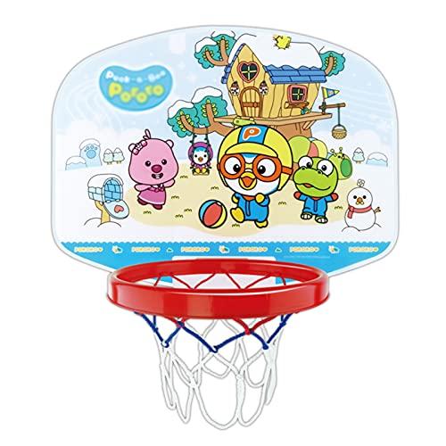 ZXQZ Aro Baloncesto Colgante para Niños, Bastidor Tiro, Tablero Baloncesto para Interiores Que Se Puede Subir Y Bajar, para 3+ Juguetes para Niños (Color : Style1)