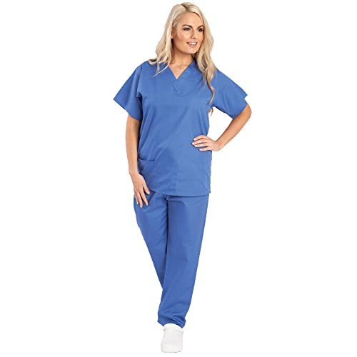e8b739ad420 Unisex Budget Medical Scrub Set - Reversible - TOP TUNIC AND TROUSERS - 7  Colours Available