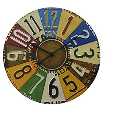 Better Homes and Gardens 15  License Plate Wall Clock