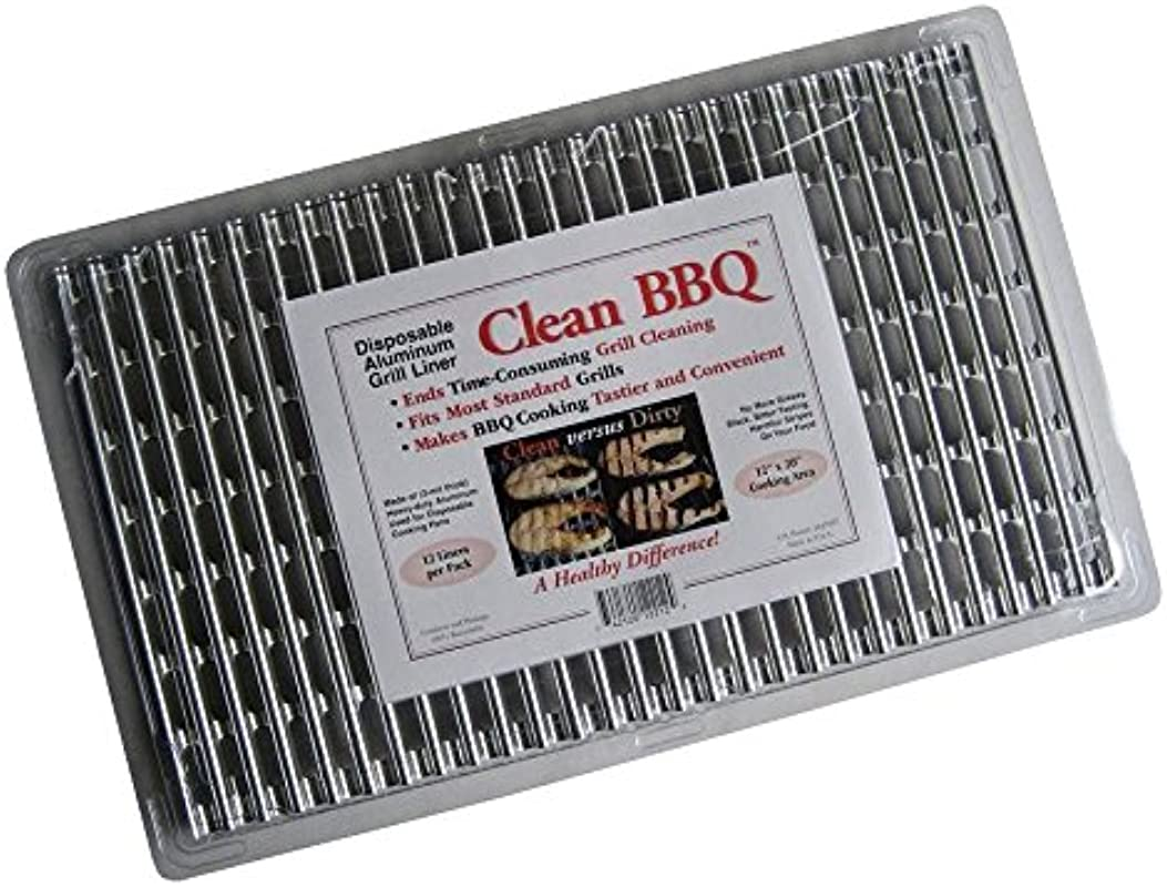 Clean BBQ Disposable Aluminum Grill Liner Set Of 24 Sheets Of Grill Topper 2