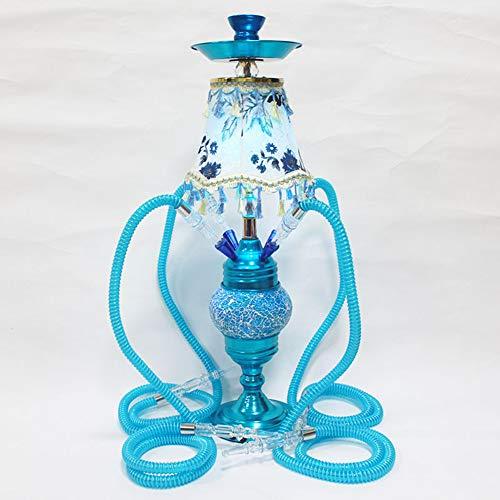 "HCDMRE Arab Luxury Extreme Series 027: 29.5""4 Juego Combinado de mangueras, cachimba, Material Shisha Pipe Metal, Pipa de Agua para Fumar,C"