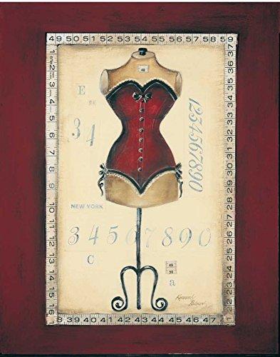 WANDAFBEELDING-op-CANVAS-Taille-de-Robe-I-Poloson-Kimberly-Country-French-Print-op-canvas-op-houten-frame-voor-wanddecoratie-Afbeelding-gedruckt-op-ingelij-Afmeting-82_X_63_cm