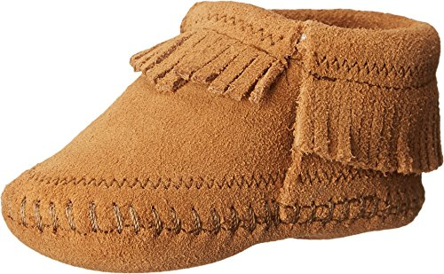 Minnetonka Kids Baby Girl's Riley Bootie (Infant/Toddler) Taupe Boot 3 Infant M