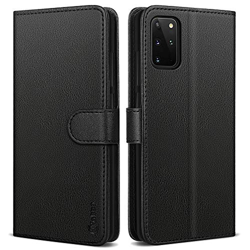 Vakoo Samsung Galaxy S20 Plus Hülle, Samsung S20 Plus Hülle, Leder Tasche Flip Hülle Handyhülle für Samsung Galaxy S20 Plus, Schwarz