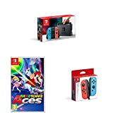 Nintendo Switch Neon with Mario Tennis Aces + Nintendo Switch Joy-Con Controller Pair - Neon Red/Neon Blue [Importación inglesa]