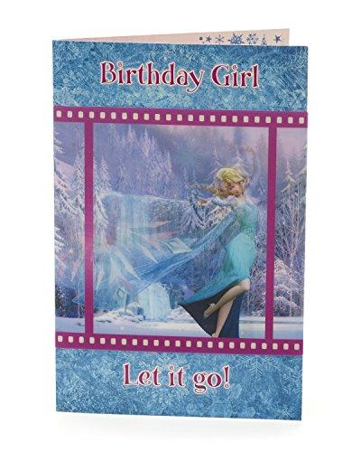 Carlton 464679–03D Neuheit Linsenraster Disney Frozen Elsa Birthday Girl Karte