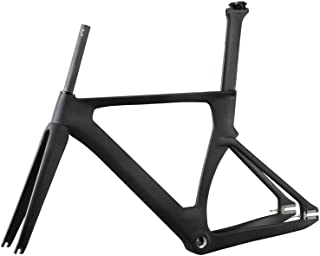 ICAN Full Carbon 700C Aero Fixed Gear Track Bike Frameset BSA 49/51/54/56cm