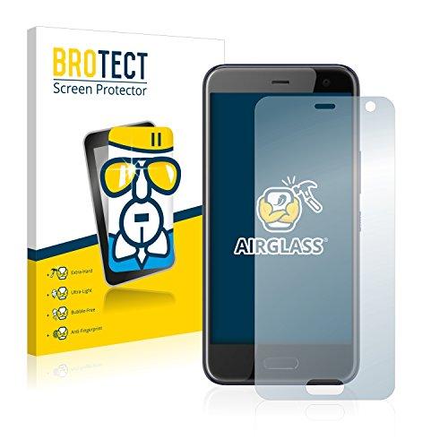 BROTECT Panzerglas Schutzfolie kompatibel mit HTC U11 Life - AirGlass, 9H Festigkeit, Anti-Fingerprint, HD-Clear