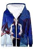 GLEST Yuri Katsuki Hoodie Sweater Sweatshirts Printed Coat Jacket with Pocket Halloween Outfits (Medium, 10)