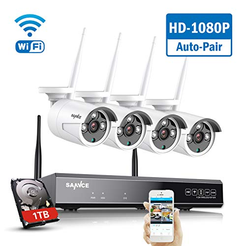 SANNCE Wireless Security System 8CH 1080P CCTV NVR and 4X 2.0MP...