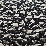 25Kg Steinteppich Set Marmorkies Bodenbeschichtung Nero Ebano Schwarz 4-8mm - 2qm - 3