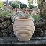 Kreta-Keramik - Vaso per piante in terracotta a forma di anfora, realizzato a mano, resistente al gelo e alle intemperie, 35 cm, perfetto per balconi, giardini o terrazze