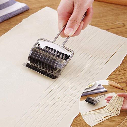 XBR Macchine per Pasta manuali Fai-da-Te Macchine per Pasta Manuale in Lega di Alluminio Rulliera per Uso Domestico Manovella Tagliapasta per Spaghetti Fettuccine