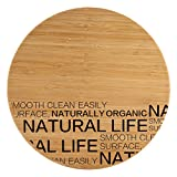 Bergner Natural Tabla de corte redonda, Bambú