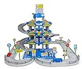 Polesie 44716 Wader Parkgarage mit 4 Ebenen mit Spielstraße und Autos, blau