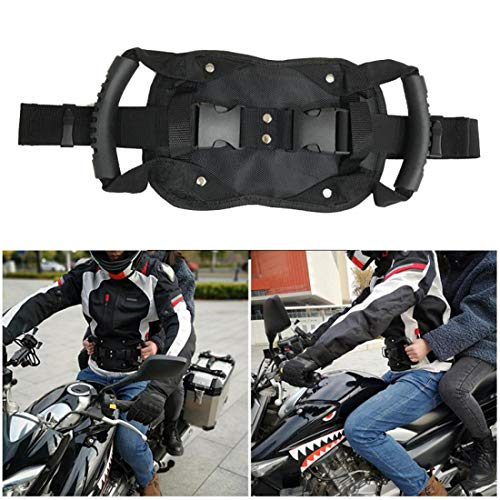 Motorcycle Passenger Pillion Grab Handles,Motorcycle Passenger Safety Belt Rear Seat Grab Handle Driver Belly Strap Pad for Children and Passenger