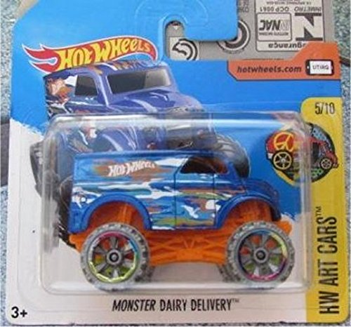 2017 Hot Wheels HW Art Cars Monster Dairy Delivery Blue 161/365 (Short Card)