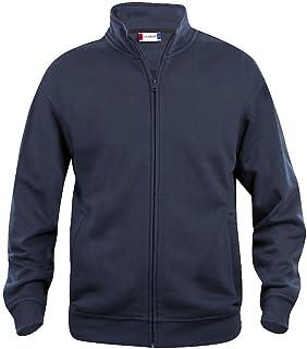 Mens Zipped Sweatshirt Jacket- Plain Colour- No Logo- Medium Weight Zip Sweater- S-5XL