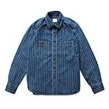 JJSPP Camisa De Cambray Hombre Camisa De Rayas Selvedge Denim Vintage Camisa De Manga Larga Para (Color : A, Size : M)