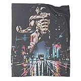 Attack on Titan Wonderful Limited Anime manta de viaje ligera, 80 x 100 cm, resistente a la decoloración y supersuave. Se utiliza para varias fiestas en el sofá cama.