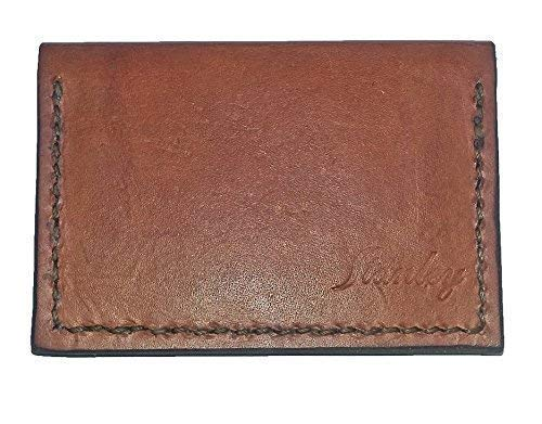 Card Fashionable Case Leather Brown Opening large release sale Light