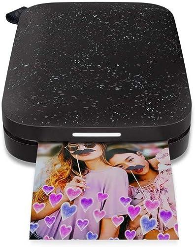 HP Sprocket Imprimante Photo Instantanée Portable 5x7,6 cm (Noir) Imprimez des Images sur du Papier Collant ZINK à pa...