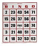 Regal Games Easy Read Jumbo Bingo Cards, 50 Pack, White
