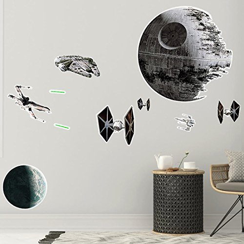 ABYstyle - STAR WARS - Stickers - 100x70cm - Bataille Spaciale