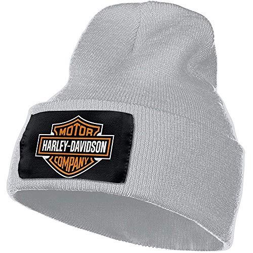 Cappelli da Uomo e da Donna Harley Davidson Logo Skull Beanie Cappelli Berretto Invernale Lavorato a Maglia Cappello da Sci Morbido e Caldo Nero
