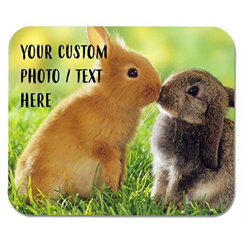 Customize Your Own Best Mousepads Adhesive Mouse Pad - Bunny 10.3 x 8.3 Inch Personalized Washing Mouse Pad Digital Mouse Pad