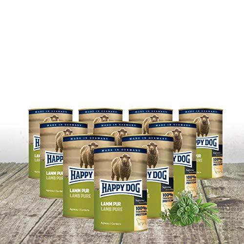 mächtig Glücklicher Hund – Lamm kann PUR 10 x 400 g +2 frei